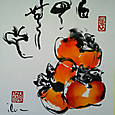 白雲無心 Autumn persimmons